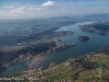 Jezioro Rożnowskie z samolotu